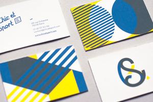 création logo logotype carte visite identité visuelle hirundi studio paris boutique chic et sport
