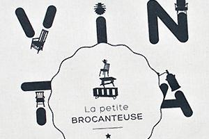 totebag sac illustration charte graphique identité de marque identité visuelle creation logo hirundi studio paris mobilier vintage la petite brocanteuse